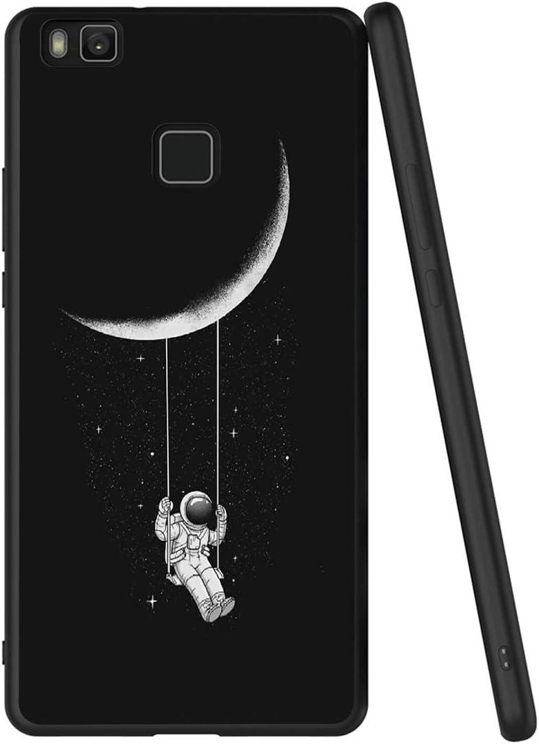 Yoedge Cover Huawei P9 Lite, Sottile Antiurto Custodia Nero Silicone TPU con Disegni Pattern Ultra Slim 360 Protective Bumper Case per Apple Huawei P9 ...