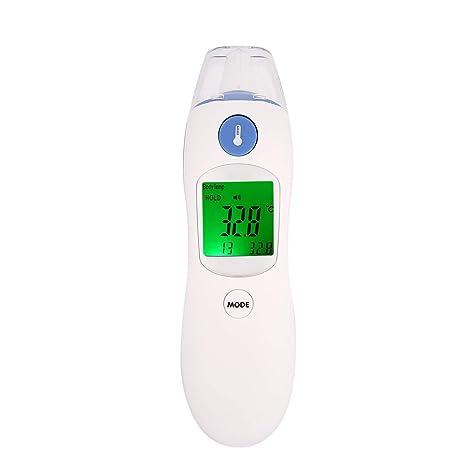 ZK8809D Termómetro láser infrarrojo con infrarrojos LCD digital Sin contacto Cuerpo Frontal Temperatura del oído Medición