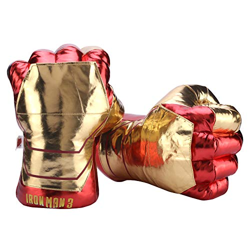 Toyart Superhero Gloves Plush Stuffed Hands for Kids, Fists Accessories to Superhero Costume, Helmet, Mask (1Pair)]()