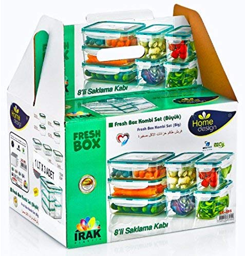 f02c4ebaa436 PlastArt Fresh Box Combi Set, Food Storage Container Set in Assorted  Shapes, 16-Piece, Clear