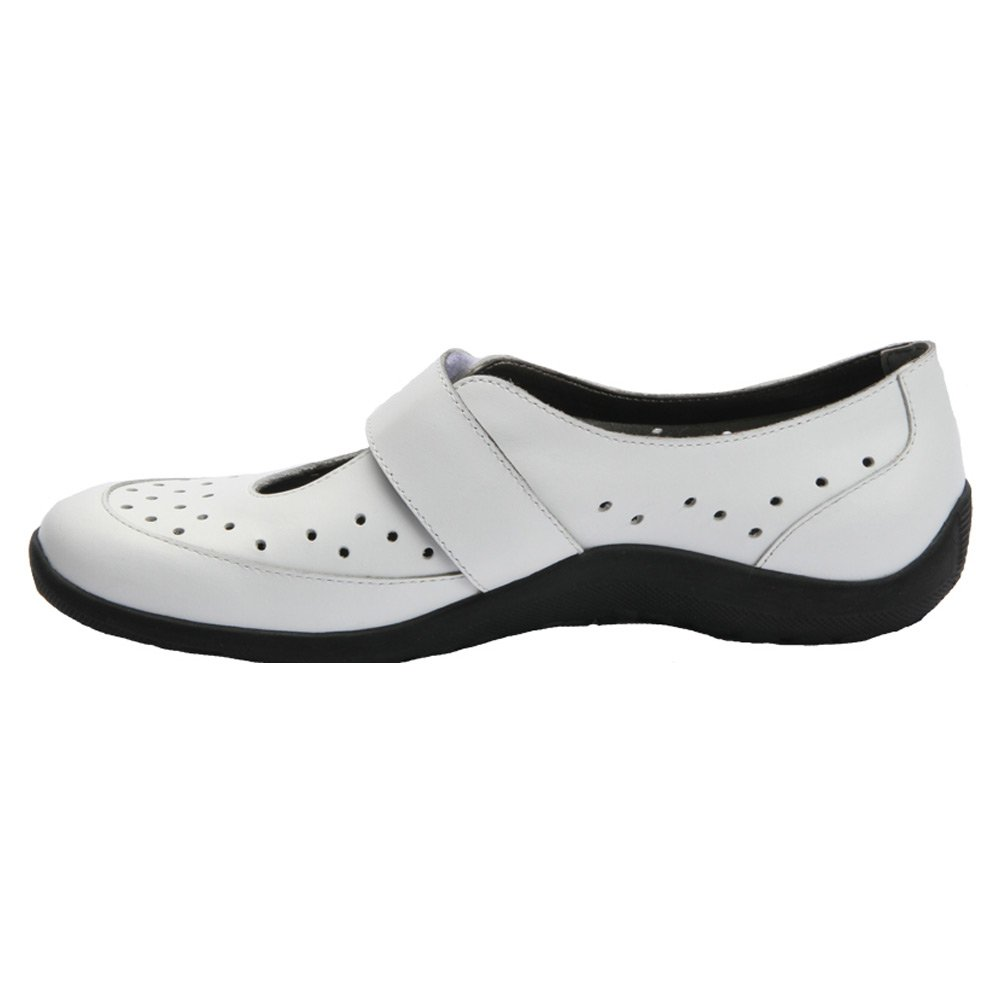 Ros Hommerson Women's Nevaeh Mary Janes Casual Flats B00TXS91BY 9.5 N US|White Perferated