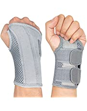 NuCamper Wrist Brace Carpal Tunnel Right Left Hand for Men Women, Night Wrist Sleep Supports Splints Arm Stabilizer with Compression Sleeve Adjustable Straps,for Tendonitis Arthritis Pain Relief…