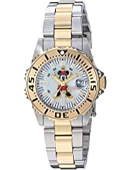 Invicta Womens Disney Limited Edition Quartz Stainless Steel Casual Watch, Color:Two Tone (Model: 25575)