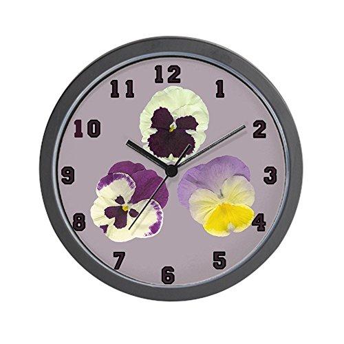 CafePress - Delicate Pansy Flower Wall Clock - Unique Decorative 10