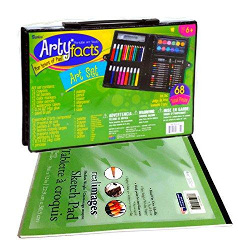 Kids Beginners Art Set Bundle Includes Complete 68 Piece Art