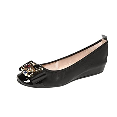 Helen's Heart Black Slip on with Jeweled Bow CFW-1626-2 Black
