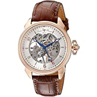 Lucien Piccard Men's LP-40052M-RG-02S-BRW Trevi Analog Display Mechanical Hand Wind Brown Watch