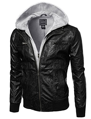 Youstar Refined faux leather jacket Attached