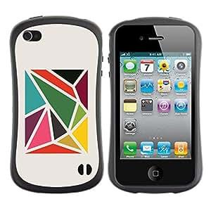 LASTONE PHONE CASE / Suave Silicona Caso Carcasa de Caucho Funda para Apple Iphone 4 / 4S / Pattern Abstract Minimalist
