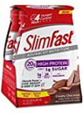 Slim Fast Advanced Nutrition, Meal Replacement Shake, High Protein, Creamy Chocolate, 11 Ounce, 4 Count (Pack of 3)