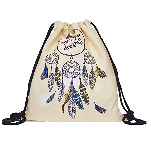 with Bag Non Drawstring Travel Bags Backpack Women Woven D WILLTOO Inside School Shoulder Girls Pocket Fashion vf47wq
