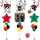 Combined Brands Ninjago Lego Movie Party Supplies Swirls and Balloons Room Decoration Kit