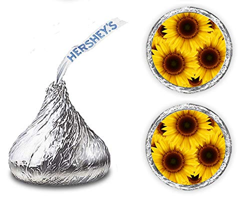 216 Sunflower Hershey Kisses Stickers, Floral Chocolate Drops Labels Stickers for Weddings, Bridal Shower Engagement Party, Birthday, Hershey's Kisses Party Favors