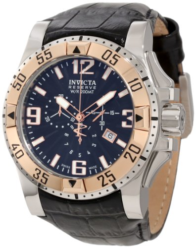 Invicta Men's 10899 Reserve Excursion Chronograph Stainless Steel Case Leather -  0088667810899