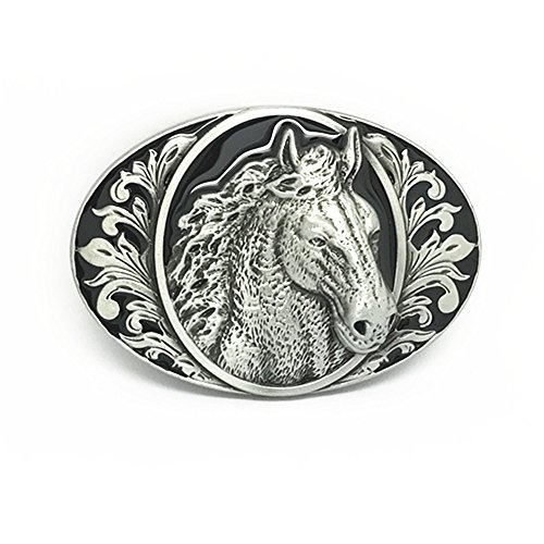 Mens Womens Horse Head Native American Western Rodeo Oval Belt Buckle