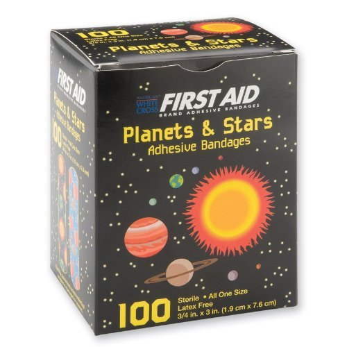 First-aid Planets & Stars Bandages - 100 Per Pack by SmileMakers