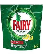 Fairy Original All In One Lemon Dishwashing Tablets 67 Pack