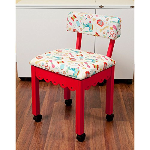 Chair Arrow (Arrow Sewing Print Material Sewing Chair with Scalloped Base)