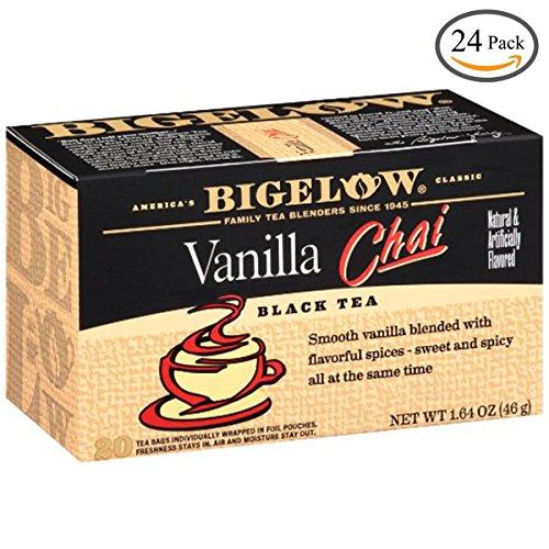 Bigelow Vanilla Chai Tea, 20-Count Boxes (Pack of 24) by Bigelow Tea
