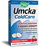 Nature's Way Umcka ColdCare Chewable, Cherry, 20 Count