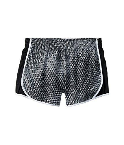 NIKE Girl's Dry Micro Master Printed Tempo Shorts (Black, Large)