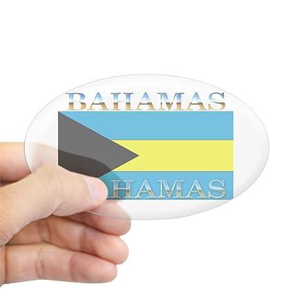 LARGE BAHAMAS FLAG EURO OVAL STICKER