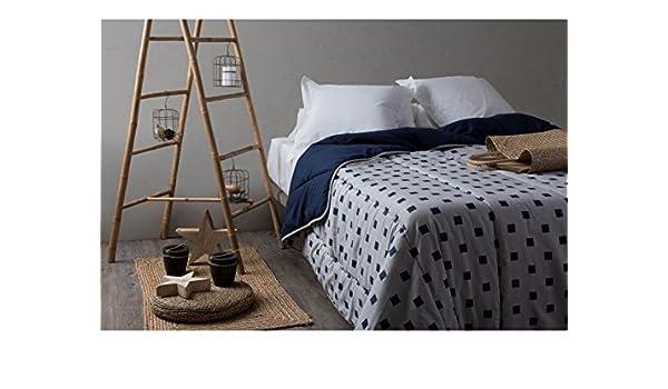 Velfont Edredon Nordico Reversible Monaco Azul 250 gramos para cama de 90 o 105 cm, 180 x 270 cm: Amazon.es: Hogar