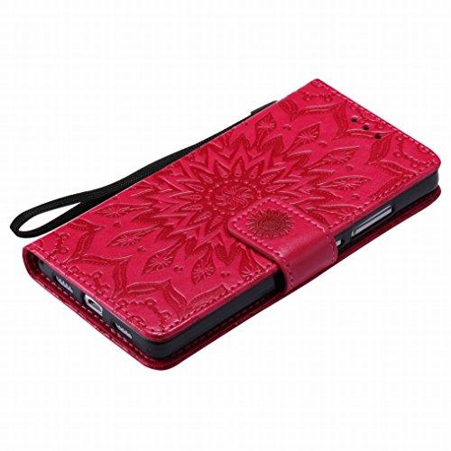 Custodia Cuoio Magnetico Per Bumper Portafoglio l21 P8lite Flip Morbido Silicone Rosso Fiorire Pelle Huawei Cover Borsa Lemorry Protettivo Tpu Sottile P8lite Ale pYqSxIO