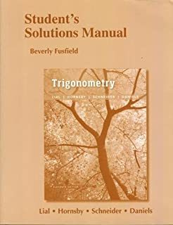 Amazon trigonometry 11th edition 9780134217437 margaret l students solutions manual for trigonometry fandeluxe Choice Image
