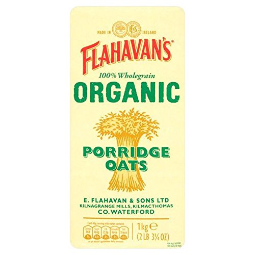 (Flahavan's Organic Porridge Oats 1kg - Pack of 2)