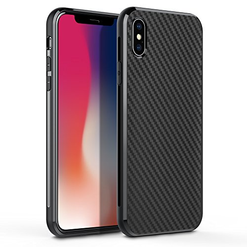 H55 Core (Phone Case Compatible iPhone Xs,iPhone X, Tempered Glass Back Cover and Soft Silicone Rubber Bumper Frame Shock Absorption Anti-Scratch Support Wireless Charging Compatible iPhone X)