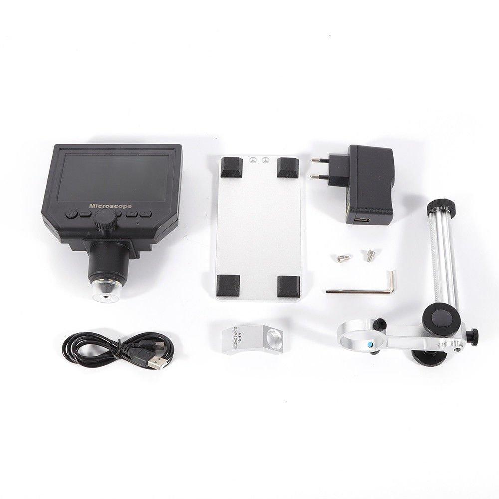 OUKANING Pantalla de 4,3 Pulgadas 1080P Microscopio Digital para Circuito Junta Reparación Soldador Herramienta 600X: Amazon.es: Electrónica