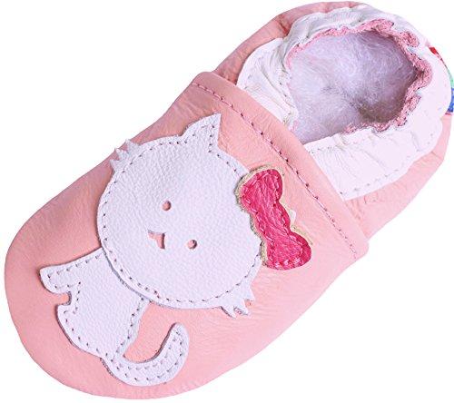 Chaton Chaussures Pantoufle Semelle cat Rose Bébé Souple Carozoo Pink Mixte HdZ1q1w