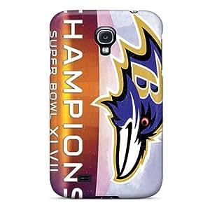 SherriFakhry Samsung Galaxy S4 High Quality Hard Phone Case Provide Private Custom Vivid Baltimore Ravens Series [gYE14932uyHY]