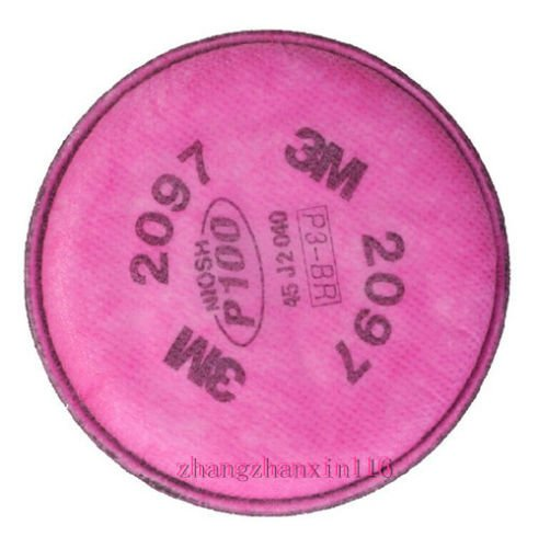 12packs=24 pcs 3M 2097 particulate Filter P100 for 3M 6200/6800/7502 ()