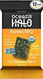 Ocean's Halo Seaweed Snack (1 Case of 12 Units Trays) Korean BBQ