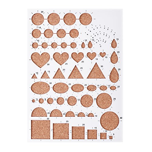 - BCP Paper Quilling Mold Mould Template Board, Circle Template Board, Quilling Kits Work Board