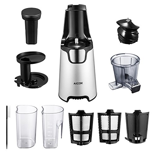 Juicer Slow Masticating Juicer Extractor, 3 Strainers for ...
