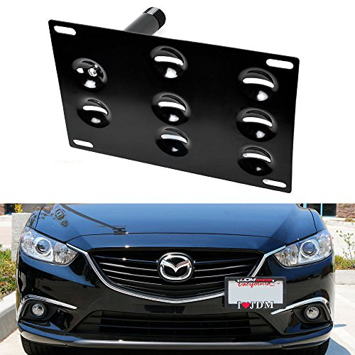 IJDMTOY JDM Style Front Bumper Tow Hole Adapter License Plate Mounting  Bracket For 2014 Up Mazda3 Mazda6, 2013 Up Mazda CX 5, 2016 Up Mazda MX 5