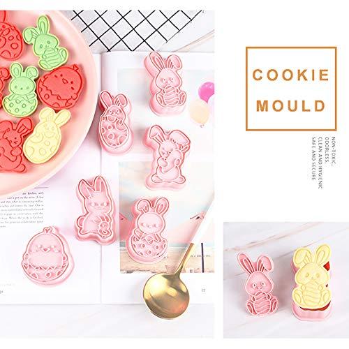 AiRKiSY 6 Pcs Ramadan Bunny Cookie Cutters,Food Grade Fudge Embossing Device Cookie Mould,Ramadan Islamic Muslim Cake…