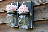 Rustic Wall Decor Wall Sconce Mason Jar Wall Decor Rustic Decor Set Of 2 Review