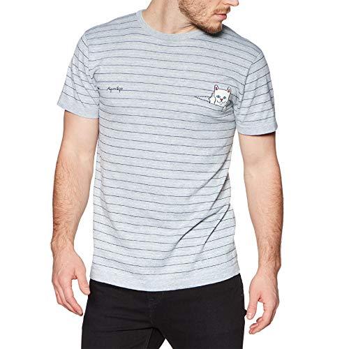 Rip N Dip Peeking Nermal Knit Short Sleeve T-Shirt Large Grey/Black