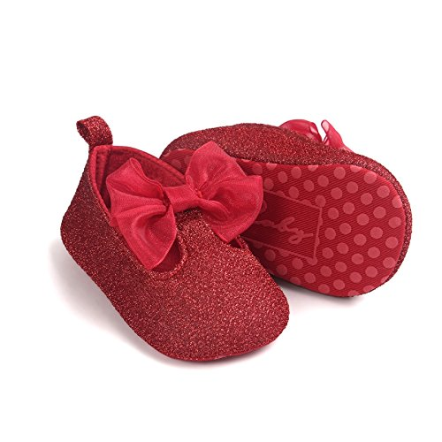 Bailarina bebé 0a 18meses, colores diferentes 0/6Meses, 12/18Meses, 6/12Meses dorado Talla:12/18 meses rojo