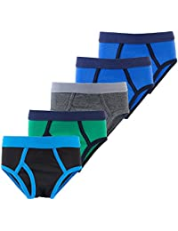 Boys Briefs Toddler Solid Color Kids Underwear 5 Pack