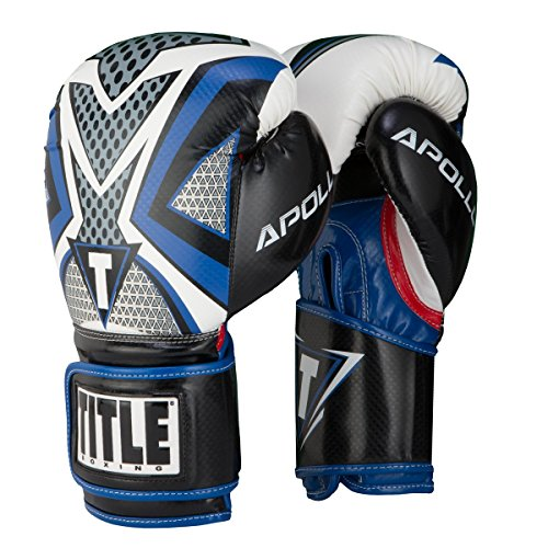 TITLE Boxing Infused Foam Apollo Training Gloves (Blue, 12 (Title Boxing Foam Boxing Gloves)