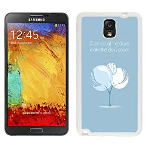 Personalized Phone Case Quote Days Count Galaxy Note 3 Wallpaper in White