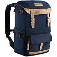 K&F Concept Multi-Functional Camera Backpack 600D Polyester Waterproof Photography Equipment Travel Bag for Tripod,DSLR Canon Nikon Sony and Accessory with Rain Cover