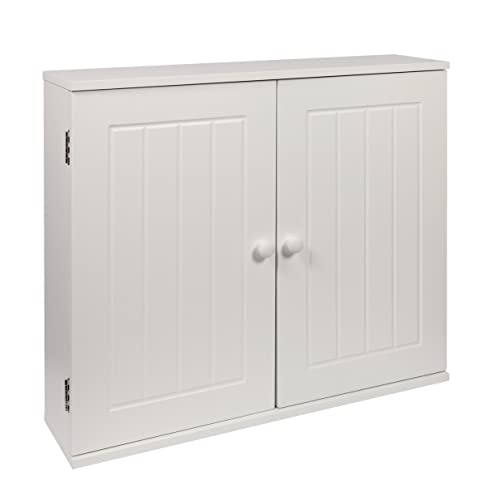 (43112 Wall) White Wooden Bathroom Wall Mounted Cabinet