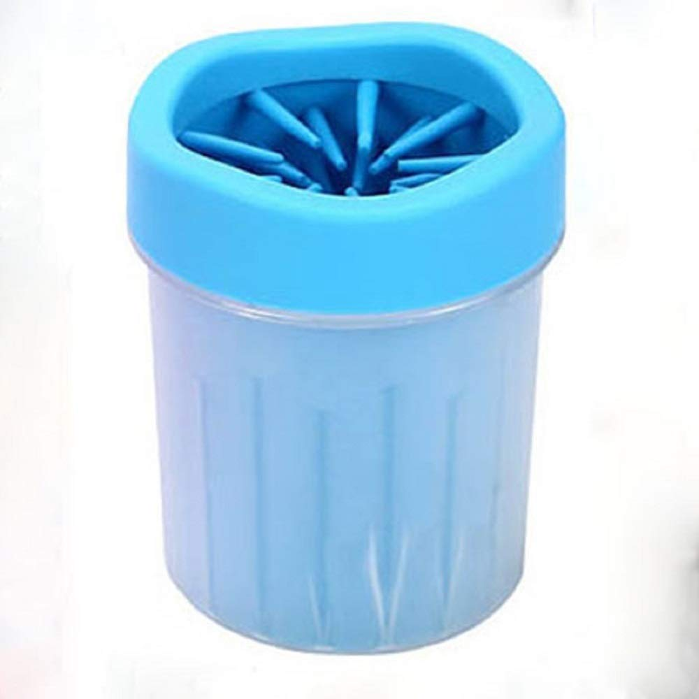 bluee 9.515cm bluee 9.515cm Portable Silicone Brush Dog Paw Cleaning Cup, for Dirty and Muddy Paw Cleaner-Suitable for Cat, Small and Medium Dogs,bluee,9.5  15cm