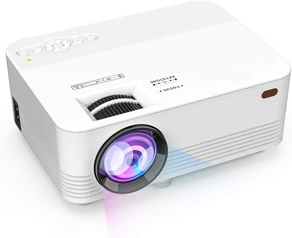 "Projector, Projector, 70% Brighter, Mini Home Theater Movie Projector with 4.0"" LCD and Up to 176-inch Display, Supports 1080P HDMI/USB/SD Card/AV/VGA for TVs/Laptops/Games 51CSjNM0xrLSL1000_"